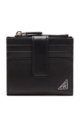 Небольшой кошелек из сафьяновой кожи Prada 40179559