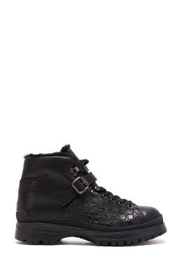 Ботинки с отделкой из кожи каймана Prada 40179677