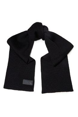 Черный шарф из чистой шерсти Prada 40179674