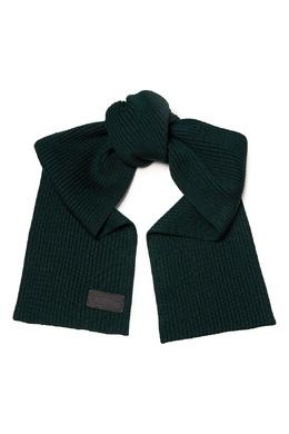 Темно-зеленый шерстяной шарф Prada 40179668