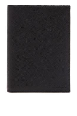 Обложка для паспорта черного цвета Prada 40179617