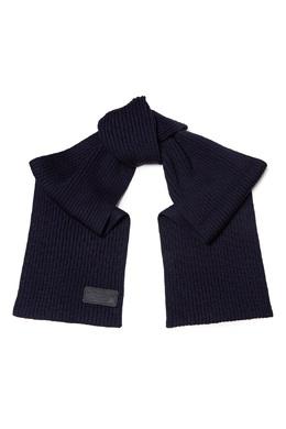 Темно-синий шерстяной шарф Prada 40179673