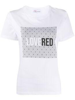 Red Valentino футболка с принтом LOVERED TR3MG05Z516