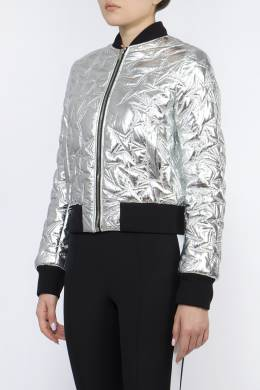 Серебристая куртка с вышивкой MSGM 296180621