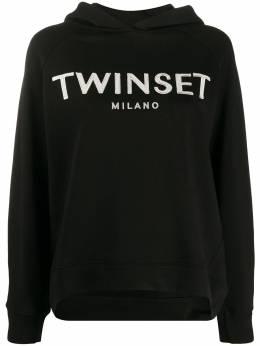 Twin-Set худи с вышитым логотипом 201TP2080