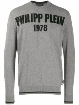 Philipp Plein джемпер с круглым вырезом F19CMKO0596PKN002N