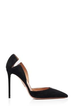 Черные туфли с прозрачными вставками Sharp 105 Aquazzura 975180938