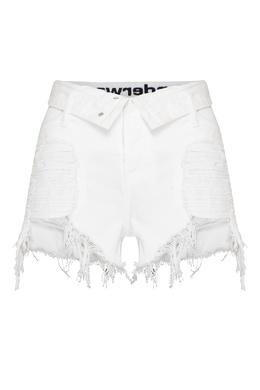 Короткие шорты с рваным эффектом Alexander Wang 367180493