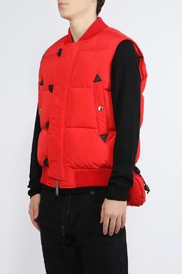 Красный жилет с черной фурнитурой Dsquared2 1706180283