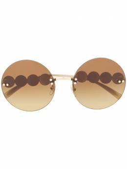 Versace Eyewear солнцезащитные очки с декором Medusa 2214
