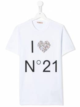 No.21 Kids декорированная футболка N214AAN0003