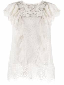 Essentiel Antwerp декорированная блузка Vala Playa VALAPLAYA
