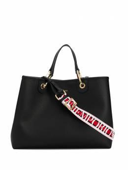 Emporio Armani сумка-тоут с логотипом и верхней ручкой Y3D165YFO5B