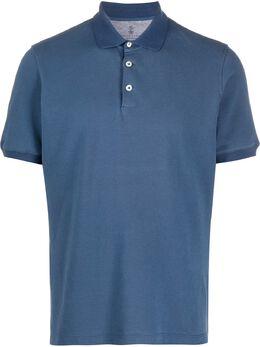 Brunello Cucinelli однотонная рубашка поло M0T638356C9364