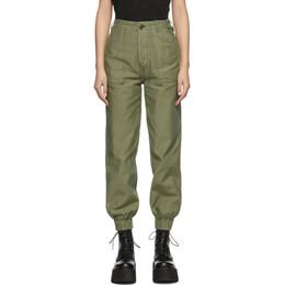 R13 Green Utility Trousers R13W7554-93