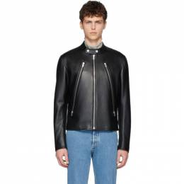 Maison Margiela Black Leather Sports Jacket S50AM0466 SY1459