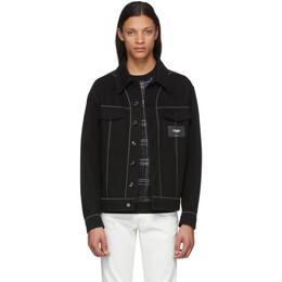 Fendi Black Denim Patch Jacket FW0428 AAHL