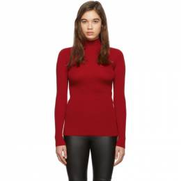 Fendi Red Knit Karligraphy Turtleneck FZY937 AAVF