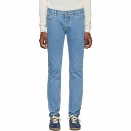 Maison Margiela Blue Stonewashed Slim-Fit Jeans S50LA0153 S30682