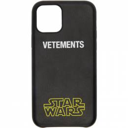 Vetements Black STAR WARS Edition iPhone 11 Pro Case USW21AC045