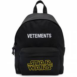Vetements Black STAR WARS Edition Logo Backpack USW21BA039