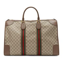 Gucci Beige GG Ophidia Duffle Bag 598152 K5IZT