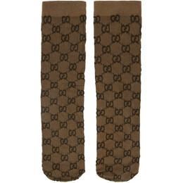 Gucci Beige GG Socks 601938 3GE75