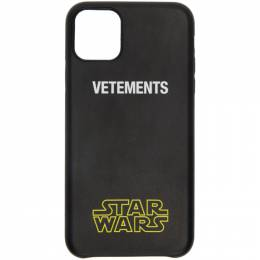 Vetements Black STAR WARS Edition Logo iPhone 11 Pro Case USW21AC045
