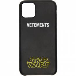 Vetements Black STAR WARS Edition Logo iPhone 11 Pro Max Case USW21AC045