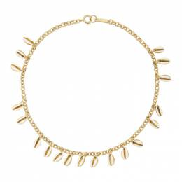 Isabel Marant White and Gold New Amer Necklace CO0259-20P028B