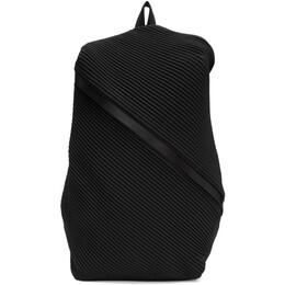 Pleats Please Issey Miyake Black Bias Pleats Backpack PP07AG501