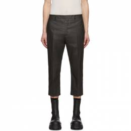 Rick Owens Grey Slim Astaires Cropped Trousers RU20S7372 TC