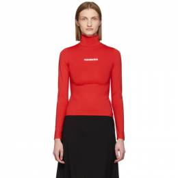 Vetements Red Logo Turtleneck SS20TO001