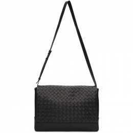 Bottega Veneta Black Medium Intrecciato Messenger Bag 609419 VCPQ1