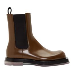 Bottega Veneta Brown Leather Chelsea Boots 592078 VBRB0