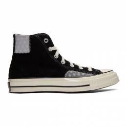 Converse Black and Grey Suede Chuck High Sneakers 166855C