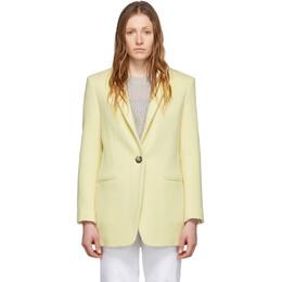 Isabel Marant Yellow Wool Felicie Coat MA0645-20P042I