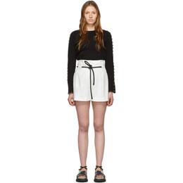 3.1 Phillip Lim White Origami Pleated Shorts E171-5351CNS