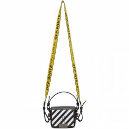 Off-White Black and White Diag Baby Flap Bag OWNA087R204230691001