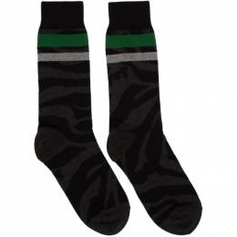 Sacai Black Zebra Socks 20-0064S
