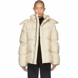 Bottega Veneta Off-White Frosted Poplin Jacket 602298 VKH50