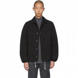 Bottega Veneta Black Twill Coaches Jacket 605135 VA8Q0