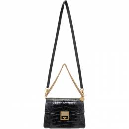 Givenchy Black Croc Small GV3 Bag BB501CB0SS