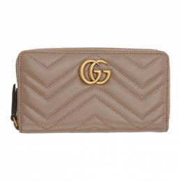 Gucci Pink GG Marmont Continental Wallet 443123 DTD1T