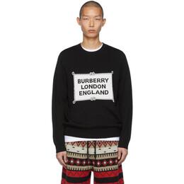 Burberry Black Intarsia Trentley Sweater 8023660