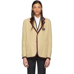 Gucci Beige Wool Palma Blazer 598200 ZAC3R