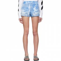 Off-White Blue Tie-Dye Active Shorts OWCB020R20H130879901