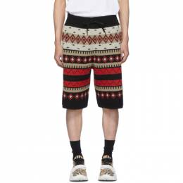 Burberry Black Fair Isle Nathan Shorts 8023490