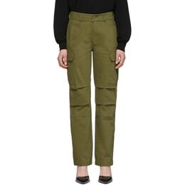 T By Alexander Wang Khaki Twill Cargo Trousers 4WC1204011