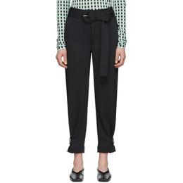 Proenza Schouler Black Proenza Schouler White Label Rumpled Belted Trousers WL2016050